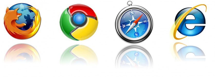 Logo de Firefox, Chrome, Safari et Internet Explorer